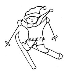 Coloriages de Noël petit skieur au bonnet  Noel Tête à modeler