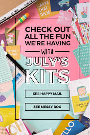 happy mail messy box july 2017 spoilers subscription update