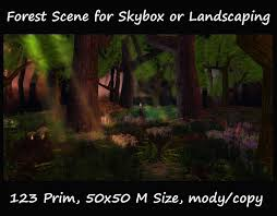 second life marketplace forest scene skybox or landscaping