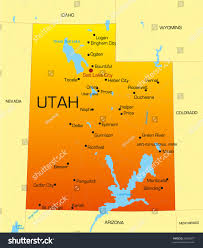 Map Of Provo Utah Vector Color Map Utah State Usa Stock Vector 26090977 Shutterstock