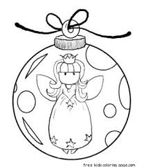 printable angel christmas tree decorations coloring pagesfree