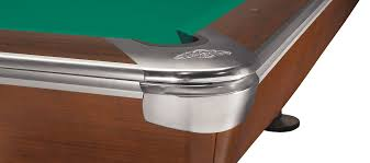 pool table corner castings brunswick table pool gold crown v mahagony 9ft tournament edition