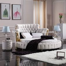 fo218 neoclassic round leather bed 2017 alibaba new chesterfield
