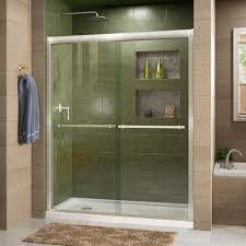 glass shower door towel bar replacement gold shower doors showers the home depot