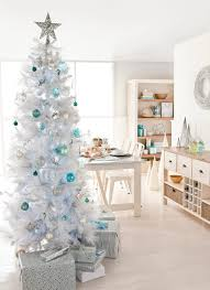 White Christmas Tree Decorated 30 Most Outstanding Ideas Of Slim Christmas Tree Decorations