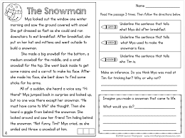 freebie text evidence reading comprehension passage snowman