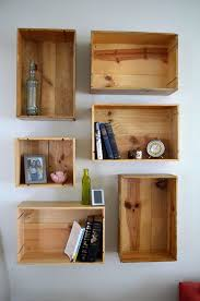 Wood For Shelves Making by Best 25 Crate Shelving Ideas On Pinterest Wood Crate Shelves
