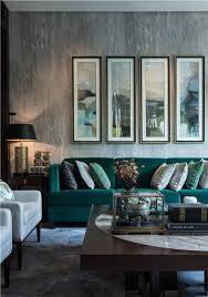 grey livingroom stylish grey living room with textural touches and an emerald sofa