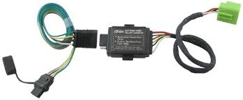 hopkins plug in simple vehicle wiring harness with 4 pole flat