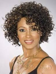 jeri curl short hair women short hair perm with yellow and blue rods hairstyles to try
