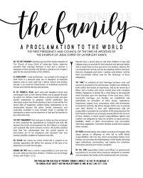 family proclamation lds family proclamation living articles of faith