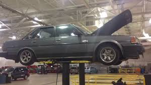 toyota shop 1987 toyota cressida in the shop on the rack in the air youtube