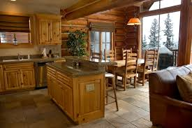 Kitchen The Secret Of Modern Log Home Interior Design Winsome Soft - Interior paint colors for log homes