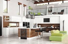 modele de cuisine moderne modèle de cuisine moderne avec meubles en bois carrelage de sol