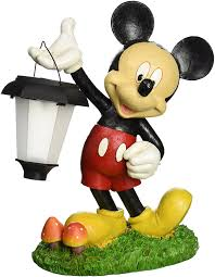 Mickey Mouse Topiary Amazon Com Disney Ldg88068 Mickey Solar Statue Outdoor Statues
