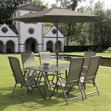 6 Seat Patio Dining Set 6 Seater Patio Table Suntime Havana Bronze 1 6m Rectangular 6