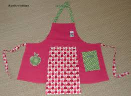 tablier cuisine fille tablier de cuisine pour enfant 3 petites bobines la boutique
