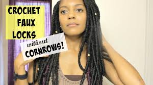 fortress soft dread hair 75 crochet faux locks without cornrows youtube