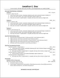 Best Resume Template For Ats by Format Format Resume