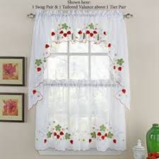 Kitchen Curtains Kitchen Curtains Tiers And Valance Window Treatments Touch Of Class