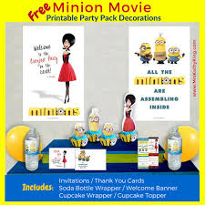 free minion movie printable party decoration pack minions mrs