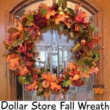 fall wreaths make your own fall wreath dollar store fall decor