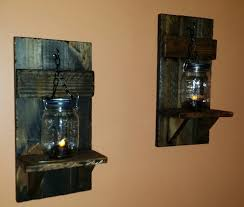 Wall Candle Sconce Rustic Candle Holder Mason Jar Wall Candle Holders Country