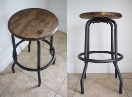 outdated to industrial barstool makeover diy u2014 crafted to create