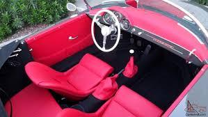 porsche red interior porsche 356 vintage speedster brand new slate grey red interior
