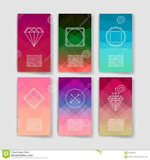 Invitation Business Cards Set Of Trendy Abstract Cards With Mystic Logos Modern Hipster
