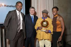 South African Cabinet Ministers Pictures Hugh Masekela Accepts Friend Of South Africa Award For Paul Simon