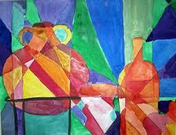 cubism colours room picasso vase 2nd grade lesson plan teks