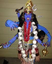 Goddess Love Halloween Costume Cool Homemade Costume Armed Hindu Blue Goddess