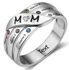 mothers ring with names family ring ebay