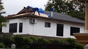 re roofing a bungalow house from concrete tile to tegola canadese