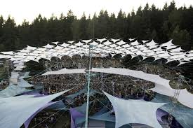 square miles to square feet pickathon u0027s trademark tension fabric structure is installed each