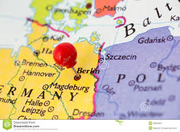 Map Of Berlin Germany by Red Pushpin On Map Of Germany Stock Photos Image 29855363