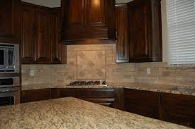 Kitchen Countertops And Backsplash Pictures Beautiful Kitchen Dark Custom Cabinets Tumbled Marble Backsplash