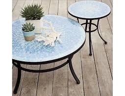 Garden Coffee Table Mosaic Blue Coffee Table