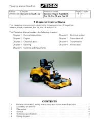 stiga pro 16 workshop manual transmission mechanics motor oil