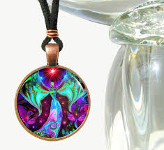 spiritual jewelry spiritual jewelry angel necklace chakra rainbow pendant