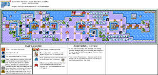 Super Mario World Map by Super Mario Advance 4 Super Mario Bros 3 World 6 Overworld Map