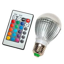 color changing light bulb with remote color changing plastic aluminum led light bulb with remote control