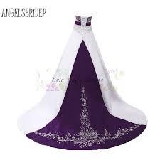 purple wedding dresses aliexpress buy white and purple wedding dresses plus size