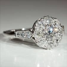 antique platinum diamond rings wedding promise diamond