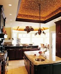 kitchen rustic kitchen gray ceiling fan one wall breakfast bar