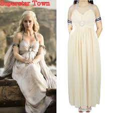 Game Thrones Halloween Costumes Daenerys Cheap Daenerys Targaryen Costume Aliexpress