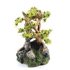 polyresin bonsai tree aquarium decoration 19cm co uk clothing