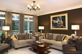 living room living room decorating ideas with dark brown sofa tv