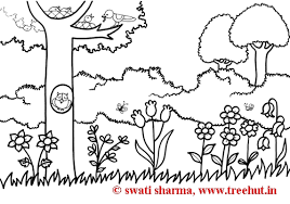 spring garden coloring pages patterns